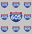 INTERSTATE SIGNS 105-905 vector image vector image