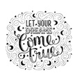 let your dreams lettering vector image vector image