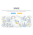 linear banner space vector image vector image