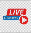 live video icon in transparent style streaming tv vector image vector image