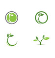logos of green tree leaf ecology nature vector image
