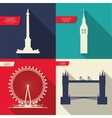 London Landmarks design vector image vector image