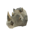 low poly rhino vector image vector image