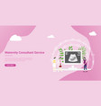 maternity or pregnancy concept for website landing vector image vector image