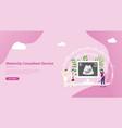 maternity or pregnancy concept for website landing vector image