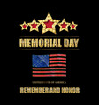 memorial day background art vector image vector image