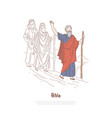 moses prophet legendary figure bible story vector image vector image