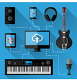 Music recording studio concept vector image