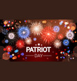 national usa patriot day united states holiday vector image