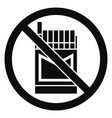 no cigarette pack icon simple style vector image