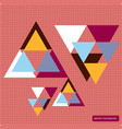 pattern with colorful geometric shapes vector image vector image