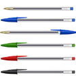 Pens collection vector image vector image