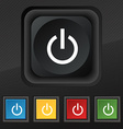 Power icon symbol Set of five colorful stylish vector image