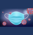 protective mask banner antiviral therapy vector image