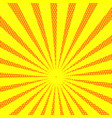 retro comic yellow background with stripes and vector image vector image