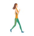 running women in flat design style sport vector image