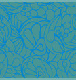 seamless art pattern blue green color vector image vector image
