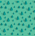 seamless pattern with isometric trees vector image vector image