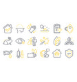 set healthcare icons such as wash hands vector image vector image