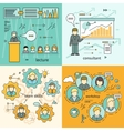 Set of Business Education Banners vector image vector image