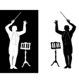 silhouette of a conductor vector image vector image