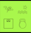 sport and wellness linear outline icon set vector image vector image