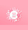 spring sale template with pink paper cut flower vector image vector image