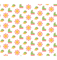 Spring seamless pattern with baseball caps rollers vector image