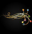 stars and golden curls vector image vector image