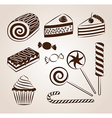 Sweet pastry collection vector image vector image