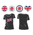 t-shirt with flag great britain vector image