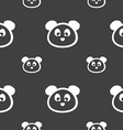 Teddy Bear icon sign Seamless pattern on a gray vector image vector image