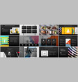 templates for website design presentations vector image