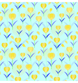 Tulips seamless pattern background floral designed vector image vector image