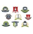 University and college school retro heraldic icons vector image vector image