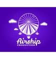 Vintage airship logo Retro Dirigible balloon vector image vector image