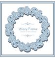 Wavy circle frame vector image vector image