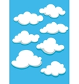 White clouds set on blue sky vector image vector image