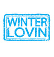 winter stamp text design vector image