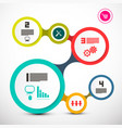 circle labels web infographic layout vector image