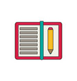 note with pencil flat vector image