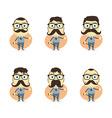 businessman cartoon set vector image
