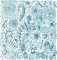 floral doodle background vector image