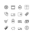 259online shopping outline icon