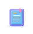 3d cartoon style minimal e-book reader e-reader vector image