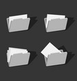 3d folder icons set design vector image vector image