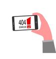 404 Error Concept vector image vector image