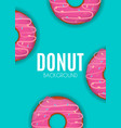 abstract donut background vector image vector image
