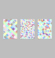 abstract gradient trendy square pattern page vector image vector image