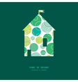 abstract green circles house silhouette vector image